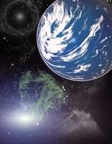 Planet in a space. royalty free stock images