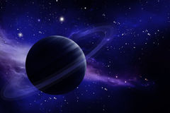 Planet in space. Alien world:  Planet in space Stock Photography
