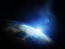 Planet from space Royalty Free Stock Photo