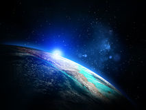 Planet from space Stock Photos
