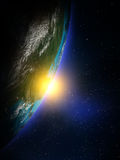 Planet from space Stock Photo