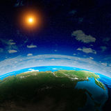 Planet from space Royalty Free Stock Image