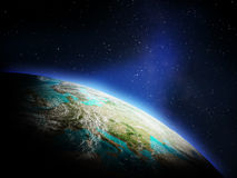 Planet from space Royalty Free Stock Photography
