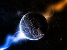 Planet space illustration Royalty Free Stock Photography