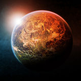 Planet space illustration Stock Photography