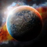 Planet space illustration Stock Image