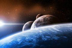 Planet space illustration Royalty Free Stock Images