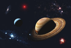 A planet is in space Royalty Free Stock Image