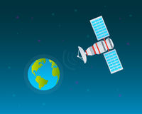 Planet and space satellite Royalty Free Stock Photos