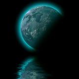 Planet space  sea illustration Stock Photos
