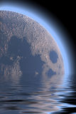 Planet space  sea illustration Stock Images