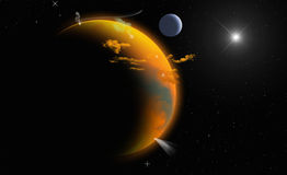 Planet in Space Stock Image