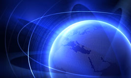 Planet. From space and world map Royalty Free Stock Image