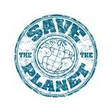planet sparar stämpeln Arkivbild