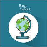 Planet sphere of back to school design Stock Images