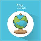 Planet sphere of back to school design Royalty Free Stock Images