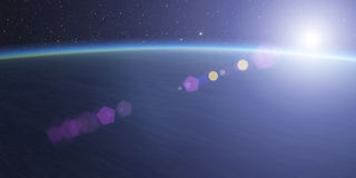 Planet with star. Stock Photos