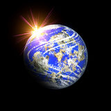Planet and star burst Royalty Free Stock Images