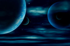 Planet and starfield Stock Images