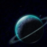 Planet with starry sky Royalty Free Stock Images