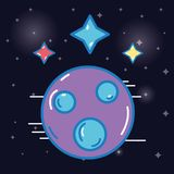 Planet with stars cosmos in the galaxy space. Vector illustration Stock Image