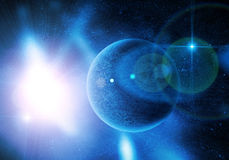 Planet among stars Royalty Free Stock Photography