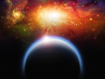 Planet and Starscape Royalty Free Stock Photo