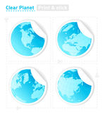 Planet stickers. All elements are separate objects and grouped. File is made with linear and radial gradient. No transparency Royalty Free Illustration