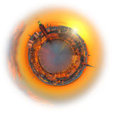 Planet Stockholm. During sunrise with the city hall Stock Images