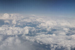 The planet. Stratosphere. Aerial view over a ocean of clouds Stock Photo