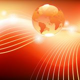 Planet in stream background Royalty Free Stock Photography