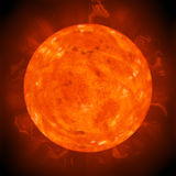 Planet sun Royalty Free Stock Image