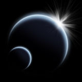 Planet sunrise Stock Photography