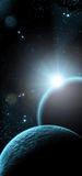 Planet with sunrise Royalty Free Stock Image