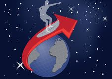 Planet surfer Royalty Free Stock Images