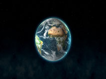 Planet-Terra Stockbild