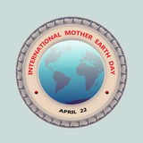 Planet and text International Mother Earth Day, April 22. Royalty Free Stock Image