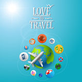 Planet Travel icons Royalty Free Stock Image