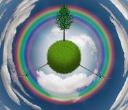 Planet tree Royalty Free Stock Photo