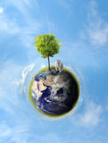 Planet with tree Stock Photos
