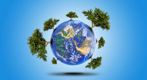 Planet With Tree Stock Photography