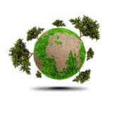 Planet With Tree Royalty Free Stock Photo