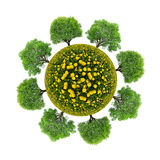 Planet with trees Stock Photos