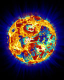 Planet in Trouble. Planet or could be the sun in trouble royalty free stock image
