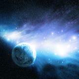 Planet u. Nebelfleck Stockbilder