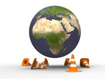 Planet under construction Stock Photography