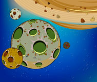 Planet in the universe cartoon Stock Photos