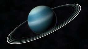 Planet Uranus stock footage