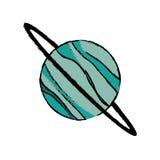 Planet uranus astronomy universe icon. Illustration eps 10 Stock Image
