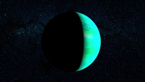 Planet Uranus stock video footage